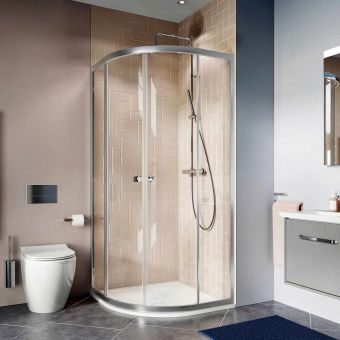 Crosswater Clear 6 Double Door Quadrant Shower Enclosure