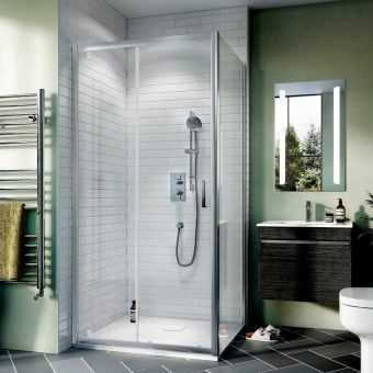 Crosswater Kai 6 Single Sliding Shower Door