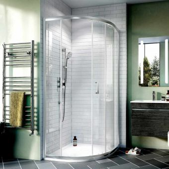 Crosswater Kai 6 Single Door Offset Quadrant Shower Enclosure