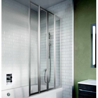 Crosswater Kai 6 Four Panel Fully Folding Bath Screen