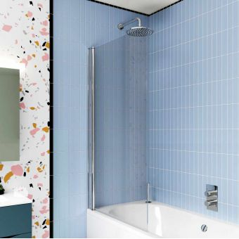 Crosswater Design 8 Single Panel Bath Screen