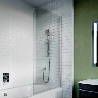 Crosswater Kai 6 Single Panel Bath Screen