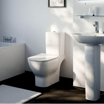 Ideal Standard Tesi Close Coupled Toilet with Aquablade - T356401