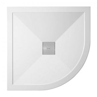 Crosswater (Simpsons) 25mm Stone Resin Quadrant Shower Tray with Waste