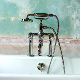 Arcade Deck Mounted Bath Mixer Tap with Shower Handset