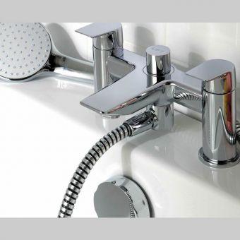 Ideal Standard Tesi Two Hole Bath Filler with Shower Handset - A6591AA