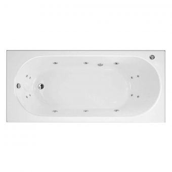 Trojan Cascade 14 Jet Single Ended Whirlpool Bath 1700 x 700
