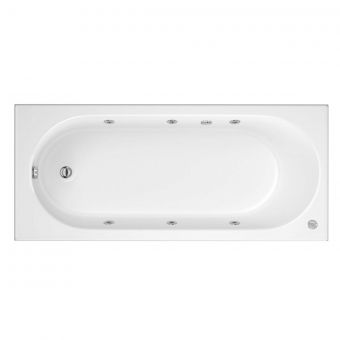 Trojan Cascade 6 Jet Single Ended Whirlpool Bath 1700 x 700