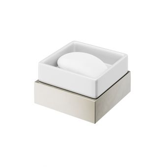 Abacus Pure Brushed Nickel Soap Dish and Holder - ACBX-207-2202