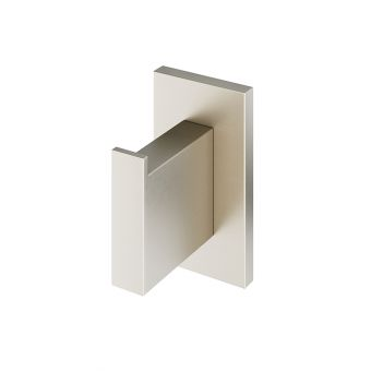 Abacus Pure Brushed Nickel Robe Hook