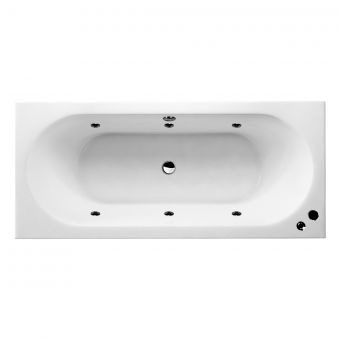 UK Bathrooms Essentials Verde Clearpool Whirlpool Double Ended Bath
