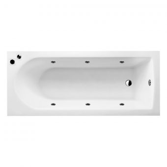UK Bathrooms Essentials Reuse Clearpool Whirlpool Single Ended Bath