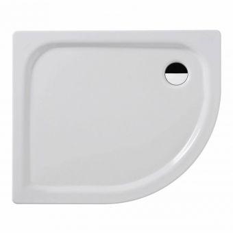 Kaldewei Zirkon Offset Quadrant Steel Shower Tray - 687744510999