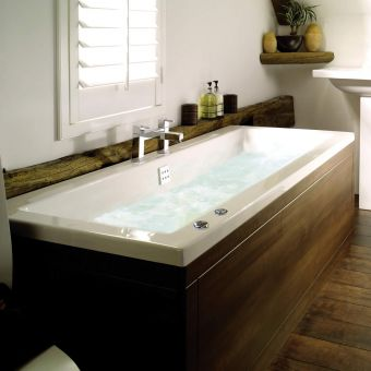 UK Bathrooms Essentials Elite Duo Clearpool Bath with 8 Jet Whirlpool System