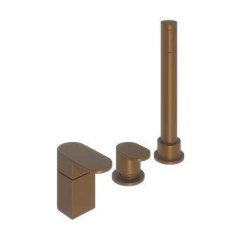 Abacus Ki Brushed Bronze Deck Mounted Bath Shower 3TH - TBTS-058-3203