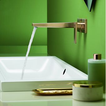 hansgrohe Metropol Wall Mounted Single Lever Basin Mixer Tap in Brushed Bronze