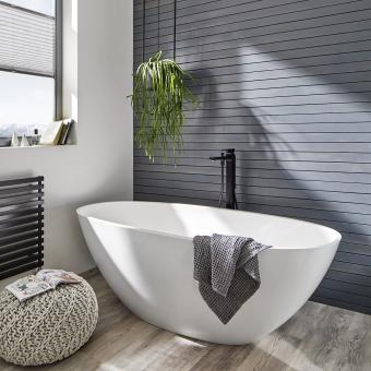 Hansgrohe FinishPlus Matt Black Metropol Single lever floor standing  bath shower mixer