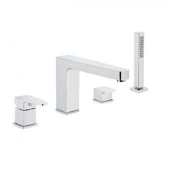 VitrA Q Line 4-hole Bath Shower Mixer Tap With Hand Shower