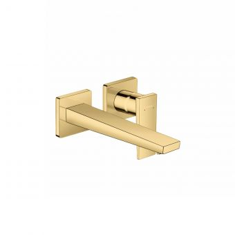 hansgrohe Metropol Wall Mounted Single Lever Basin Mixer Tap in Polished Gold Optic