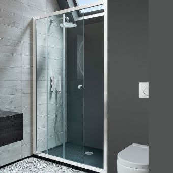 Crosswater Edge Single Slider Shower Door