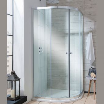 Crosswater Edge Double Door Offset Quadrant shower enclosure 1200 x 800