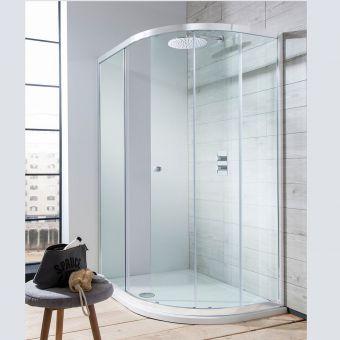 Crosswater Edge Quadrant Single Door Shower Enclosure