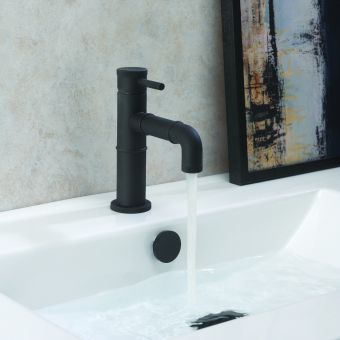 Crosswater MPRO Industrial Basin Monobloc in Carbon Black