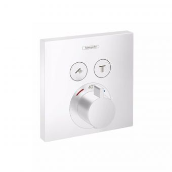 hansgrohe ShowerSelect Thermostatic Mixer for Concealed Installation, for two outlets in Matt White