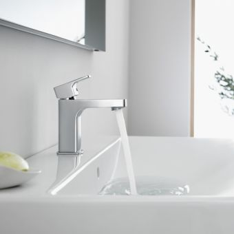 Roca L90 Basin Mixer Tap with Click Clack Waste