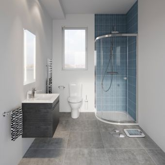 Crosswater Clean and Simple Main Bathroom Suite