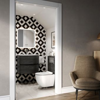 Crosswater Abstract Wall Cloakroom Suite