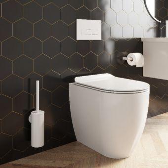 Crosswater MPRO Matt White Toilet Roll Holder - PRO029W+