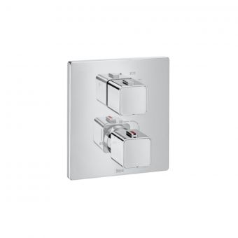 Roca T1000 Square Thermostatic Bath Shower Mixer Tap