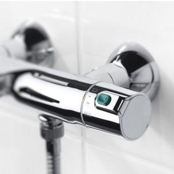 Roca Victoria V2 Thermostatic Chrome Bath Shower Mixer Tap - A5A1118C00