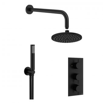 Crosswater MPRO Matt Black 2 Shower, 3 Outlet Shower Bundle