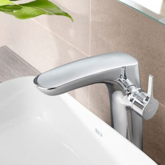 Roca Insignia Medium Height Basin Mixer Tap with Pop up Waste - 5A343AC00