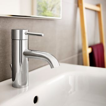 Roca Lanta Basin Mixer Tap With Pop up Waste