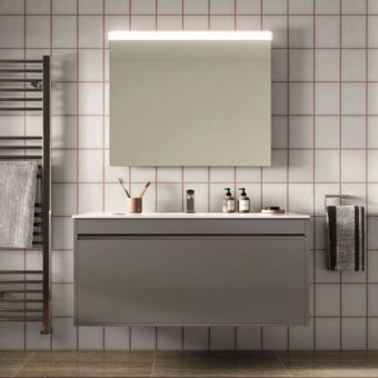 Crosswater Kai Single Drawer Vanity Unit with White Gloss Worktop