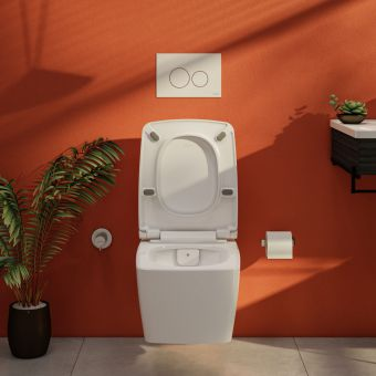 VitrA Aquacare M-Line Rimless Wall Hung Bidet Toilet with Wall Mounted Manual Valve
