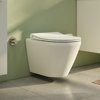Vitra Aquacare Integra Rimless Wall Hung Bidet toilet with wall mounted manual stop valve - 70410036200
