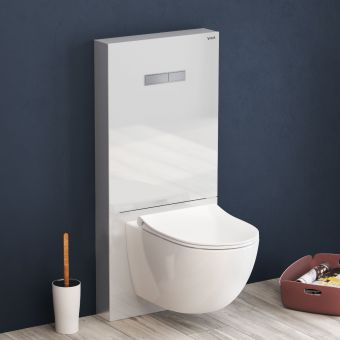 VitrA Vitrus Glass Covered Concealed Cistern for wall hung pan