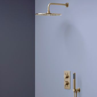 Crosswater MPRO Brushed Brass 2 Outlet 2 Handle Shower Bundle