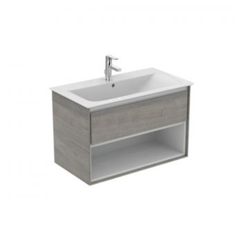 Ideal Standard Concept Air 800mm Vanity Unit with 1 Drawer and an Open shelf