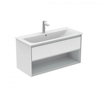 Ideal Standard Concept Air 1000mm Vanity Unit with Open Shelf