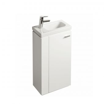 Ideal Standard Concept Space 450mm Floor Standing Guest Basin Unit – L shape Door Right-Handed
