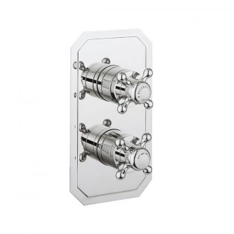 Crosswater Belgravia 3 Outlet 2 Handle Concealed Thermostatic Shower Valve