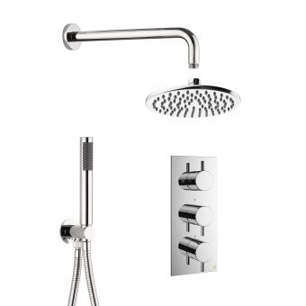 Crosswater MPRO Chrome 2 Outlet, 3 Handle Shower Bundle