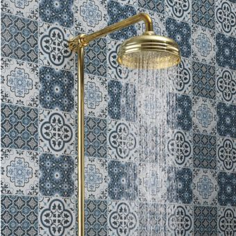 Belgravia Exposed Thermostatic Shower Kit in Unlacquered Brass