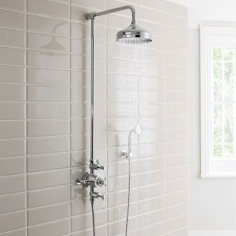 Crosswater Belgravia Thermostatic Shower Kit with Wall Station Handshower