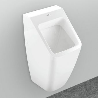 Villeroy and Boch Architectura Wall Hung Square Siphonic Urinal with ViChange
